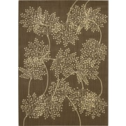 Nourison Capri Chocolate Area Rug; 5'3'' x 7'5''