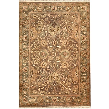 American Home Rug Co. American Home Classic Mahogany Esfahan Brown/Sage Area Rug; 9'6'' x 13'6''