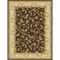 Central Oriental Radiance Felix Brown Rug; 5'3'' x 7'7''
