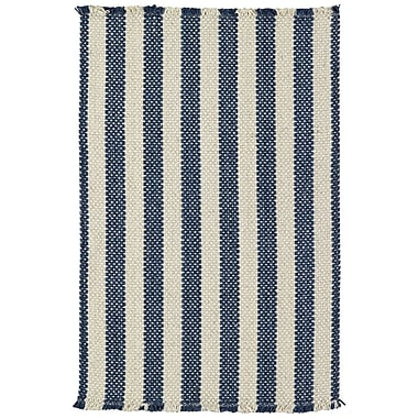 Capel Nags Head Stripe Blue Area Rug; Vertical Stripe 7' x 9'