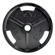 Cap Barbell 2'' Black Rubber Coated Grip Plate; 10 lbs