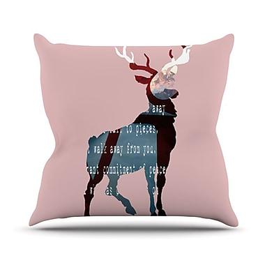 KESS InHouse Oh Deer Throw Pillow; 20'' H x 20'' W