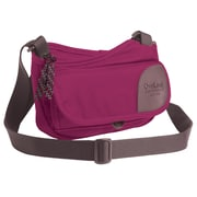 Overland Equipment Pixley Shoulder Bag; Red - Violet / Tan Cross Hatch