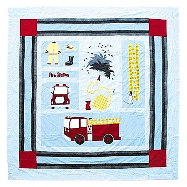 Patch Magic Fire Truck Cotton Shower Curtain