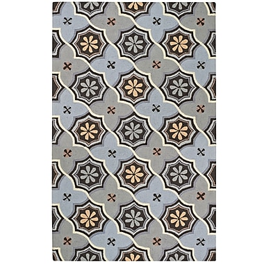 Capel Intrique Blue Medallion Rug; 5' x 8'