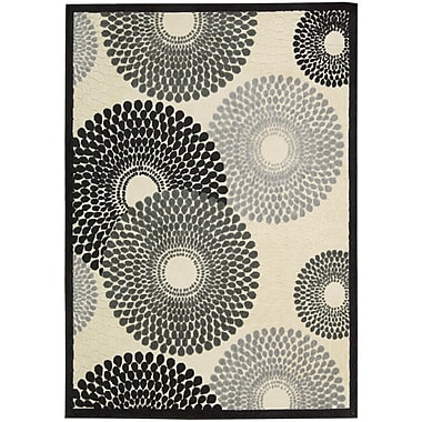 Nourison Graphic Illusions Parchment Cream Abstract Area Rug; 5'3'' x 7'5''