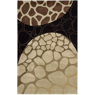 Nourison Dimensions Brown Area Rug; 5' x 8'