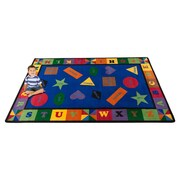 Kid Carpet Colorful Shapes Area Rug; 7'6'' x 12'