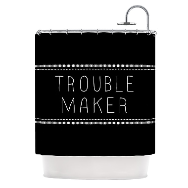 KESS InHouse Trouble Maker Shower Curtain