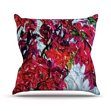 KESS InHouse Bougainvillea Throw Pillow; 18'' H x 18'' W