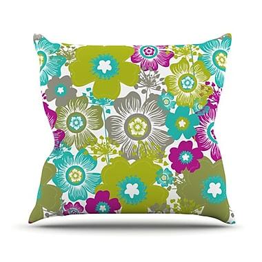 KESS InHouse Little Bloom Throw Pillow; 20'' H x 20'' W