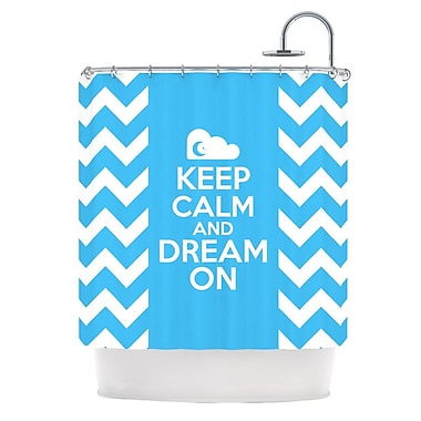 KESS InHouse Keep Calm Shower Curtain