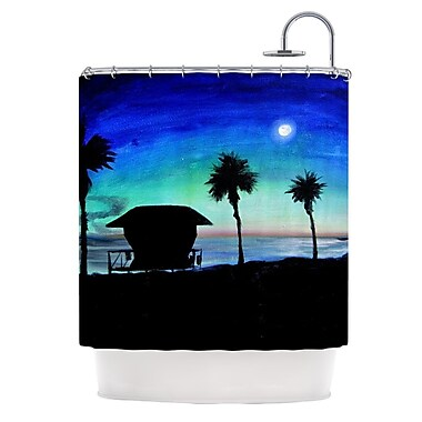 KESS InHouse Carlsbad State Beach Shower Curtain