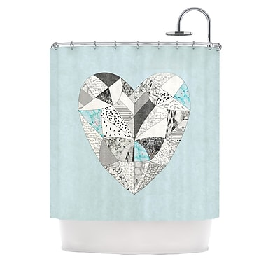 KESS InHouse Comheartment Shower Curtain