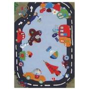 nuLOOM Kinder Fantasy Track Kids Rug; 5' x 8'