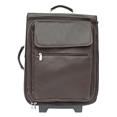 Piel Traveler 17'' Computer Bag Mini-Roller; Chocolate