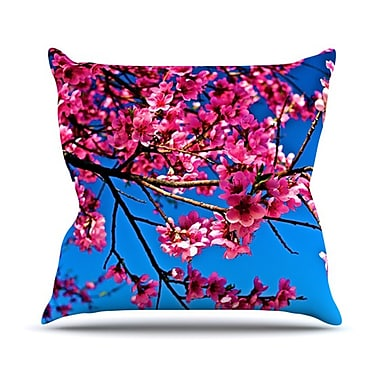 KESS InHouse Flowers Throw Pillow; 20'' H x 20'' W