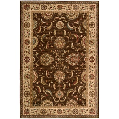 Nourison Living Treasures Brown Rug; Runner 2'6'' x 12'