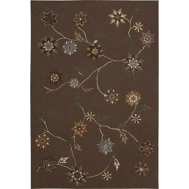 Nourison Contour Brown Area Rug; 7'3'' x 9'3''