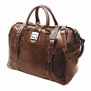 Mulholland Brothers Weekend Bags 19'' Leather Weekender Duffel; Bridle Tan