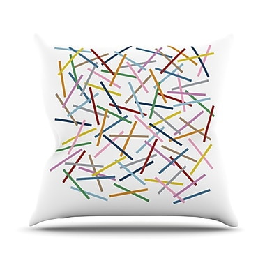 KESS InHouse Sprinkles Throw Pillow; 18'' H x 18'' W