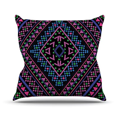 KESS InHouse Neon Pattern Throw Pillow; 26'' H x 26'' W