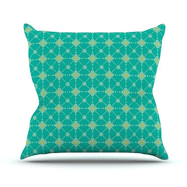 KESS InHouse Hive Blooms Throw Pillow; 18'' H x 18'' W