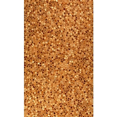 Meva Rugs Hair Hyde Brown Solid Area Rug; 3' x 5'