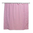 Chooty & Co Zig Zag Candy Standard Cut Corded Cotton Shower Curtain; White/Pink