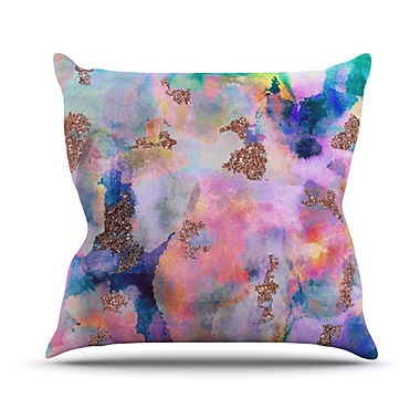 KESS InHouse Sparkle Mist Throw Pillow; 26'' H x 26'' W
