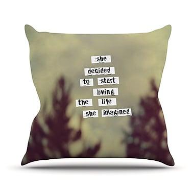 KESS InHouse Her Life Throw Pillow; 20'' H x 20'' W
