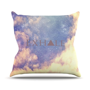 KESS InHouse Exhale Throw Pillow; 20'' H x 20'' W