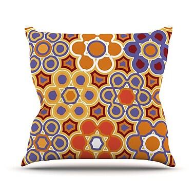 KESS InHouse Flower Garden Throw Pillow; 26'' H x 26'' W