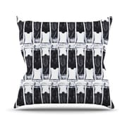 KESS InHouse Paint Tubes Throw Pillow; 26'' H x 26'' W