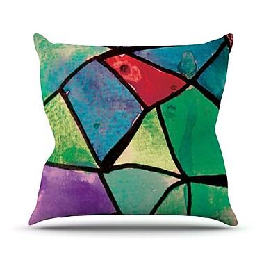 KESS InHouse Stain Glass 1 Throw Pillow; 26'' H x 26'' W