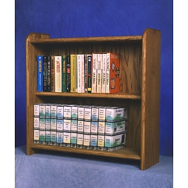 Wood Shed 200 Series 80 DVD Multimedia Tabletop Storage Rack; Natural