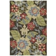 Kaleen Habitat 21 Salty Leaves Mocha Floral Indoor/Outdoor Area Rug; 5' x 7'6''