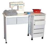 Venture Horizon VHZ Office Mobile Writing Desk; White