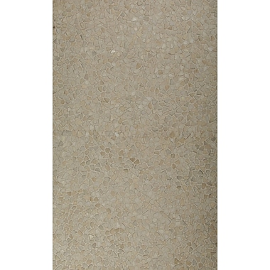 Meva Rugs Light Beige Area Rug; 5' x 8'