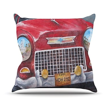 KESS InHouse Vintage in Cuba Throw Pillow; 20'' H x 20'' W