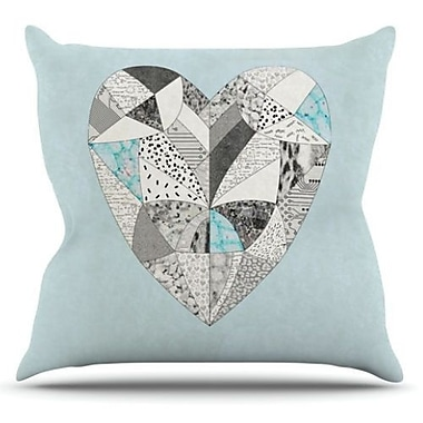 KESS InHouse Comheartment Throw Pillow; 26'' H x 26'' W