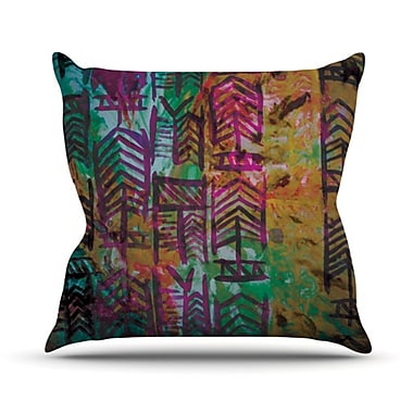 KESS InHouse Quiver IV Throw Pillow; 20'' H x 20'' W