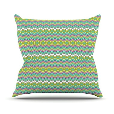 KESS InHouse Chevron Love Throw Pillow; 20'' H x 20'' W
