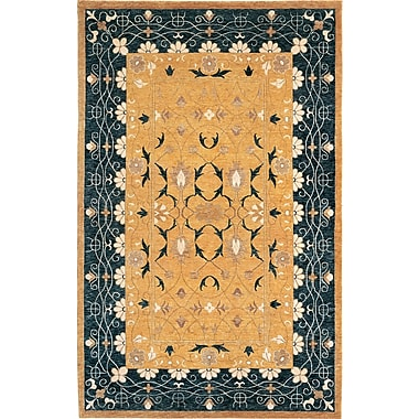 Abbyson Living Harvest Moon Himalayan Sheep Green/Yellow Floral Indoor/Outdoor Area Rug; 6' x 9'