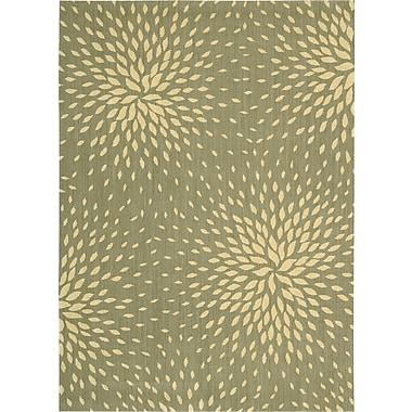 Nourison Capri Light Green Area Rug; 7'9'' x 10'10''