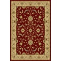 Central Oriental Interlude Atelier Red Rug; 3'3'' x 5'3''