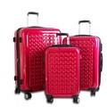J World Jonit 3 Piece Luggage Set; Pink