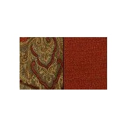 Pacific Table Linens Timeless Paisley Wine Glass Coaster (Set of 2); Spice / Cinnabar