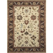 Dynamic Rugs Charisma Harding Ivory / Brown Area Rug; Runner 2'4'' x 8'