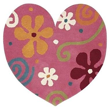 Dynamic Rugs Fantasia Heart Light Pink Area Rug; Novelty 3' x 3'